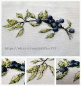 "Cross stitch pattern ""Blueberry""."