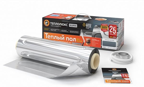 Нагревательный электрический мат под ламинат/паркет Теплолюкс Alumia 4.0-600 Вт (площадь обогрева 4 м2)