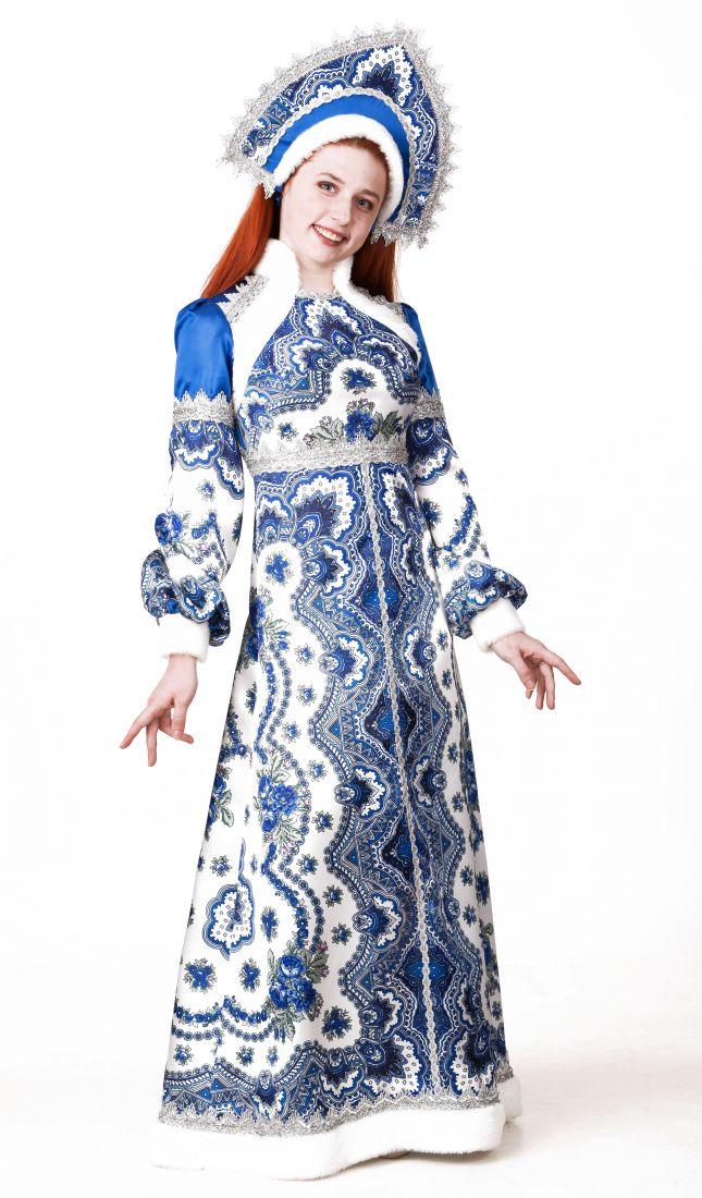 Взрослый костюм Снегурочки Василисы