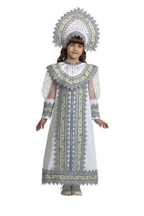 Детский костюм русской снегурочки
