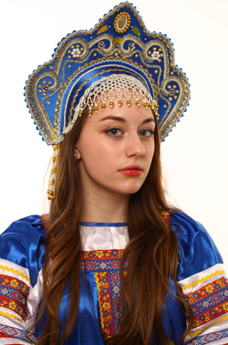 Синий кокошник Фантазия