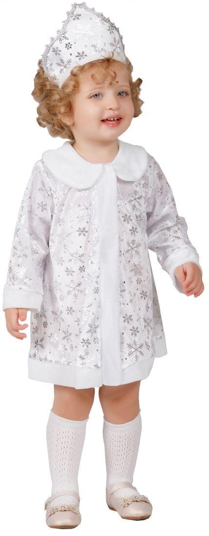 Белый костюм Снегурочки-малышки