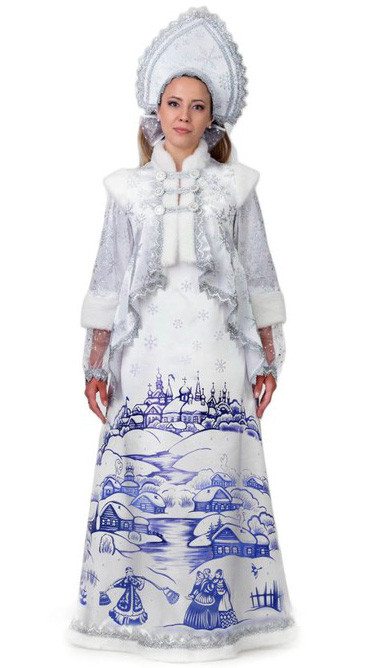 Взрослый белый костюм Лазурной Снегурочки