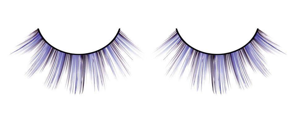 Тоненькие черно-фиолетовые ресницы