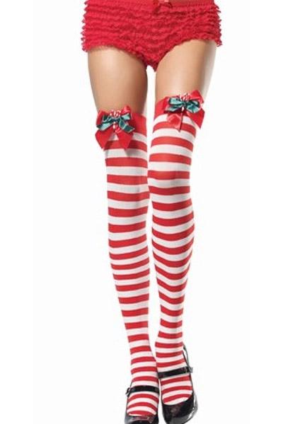 Красно-белые рождественские чулки