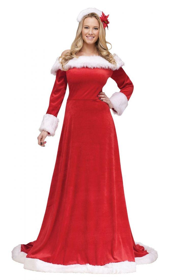 Бархатный рождественский костюм
