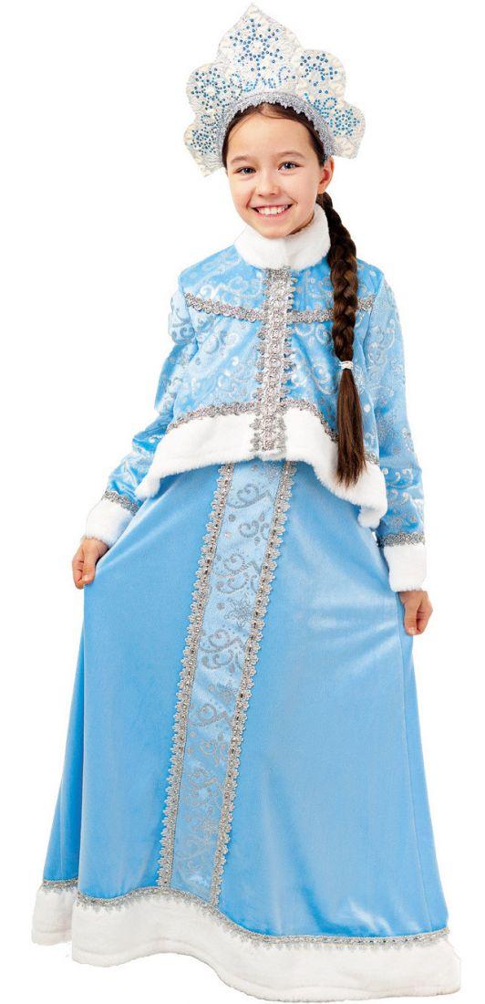 Детский костюм Снегурочки в голубом
