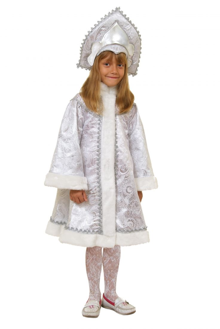 Серебристый костюм Снегурочки