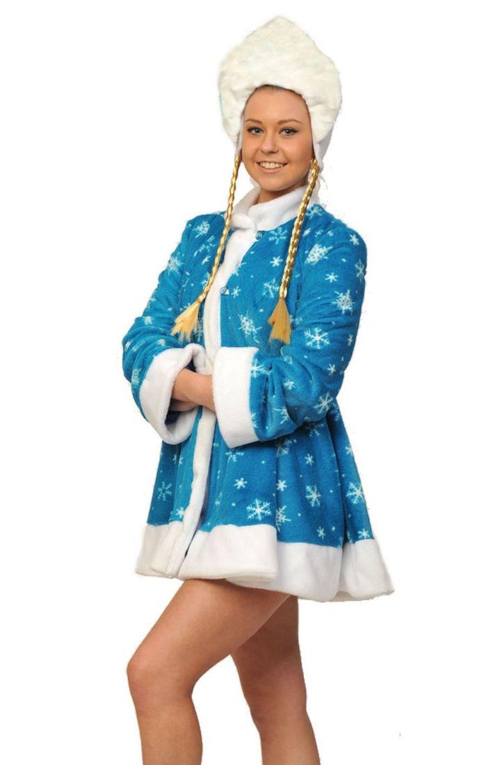 Взрослый мини костюм снегурочки