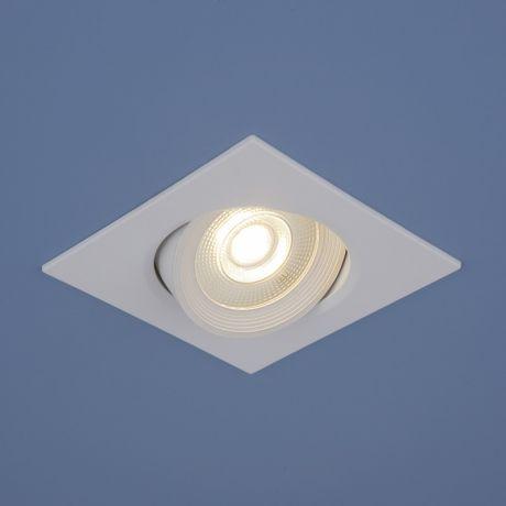 Точечный светильник встраиваемый светодиодный белый Elektrostandard 9907 LED 6W WH белый