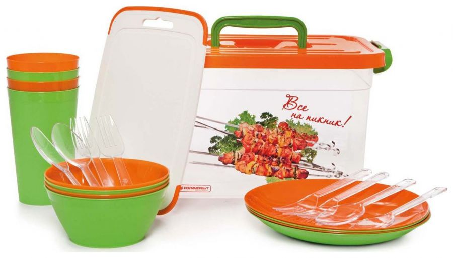 Набор посуды для пикника Полимербыт SGHPBKP311