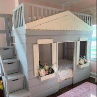 Двухъярусная кровать домик Fantasy №10