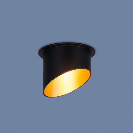7005 MR16/ Светильник встраиваемый BK/GD черный/золото