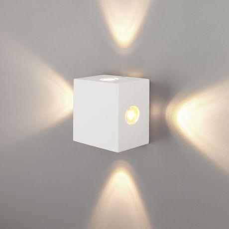 1601 TECHNO LED / Светильник садово-парковый со светодиодами Kvatra белый