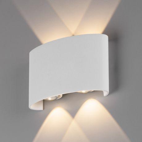 1555 TECHNO LED / Светильник садово-парковый со светодиодами TWINKY DOUBLE белый