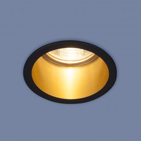 7004 MR16 / Светильник встраиваемый BK/GD черный/золото