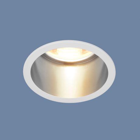 7004 MR16 / Светильник встраиваемый WH/SL белый/серебро