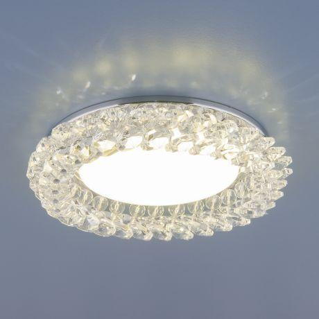 1063 GX53 / Светильник встраиваемый CH/CL  хром/прозрачный