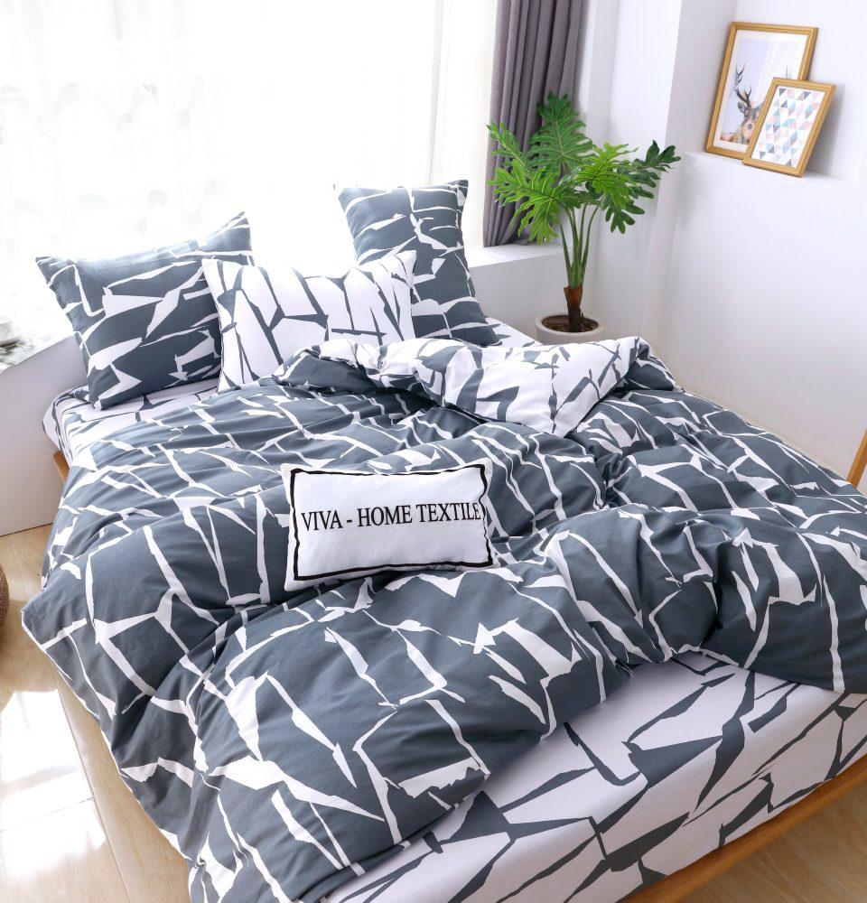 Комплект Дуэт Семейный  постельного белья Люкс-Сатин на резинке AR094