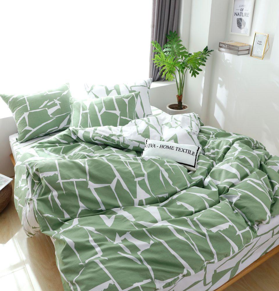 Комплект Евро  постельного белья Люкс-Сатин на резинке AR096