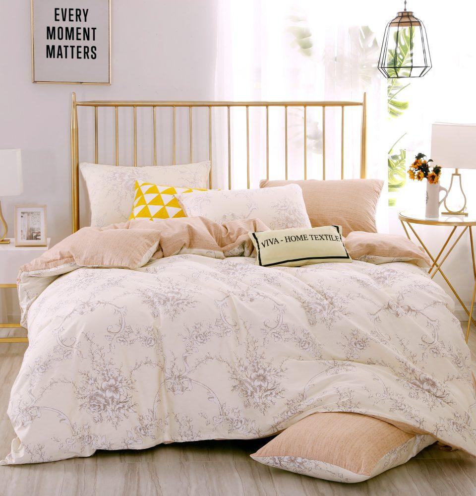 Комплект Дуэт Семейный  постельного белья Люкс-Сатин A101