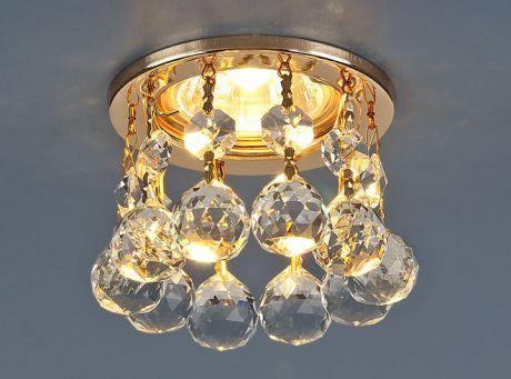 2051 MR16 GD/CL / Светильник встраиваемый золото/прозрачный