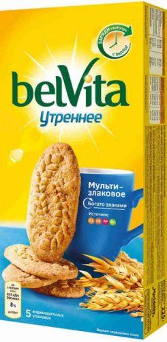 Печенье BelVita Утреннее со злаковыми хлопьями 225 г