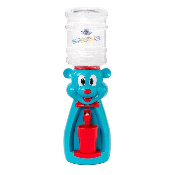 Кулер детский для воды Акваняня Мышка голубая с красным