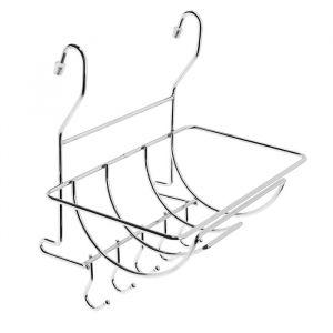 Полка на рейлинг для полотенец с крючками 4734282