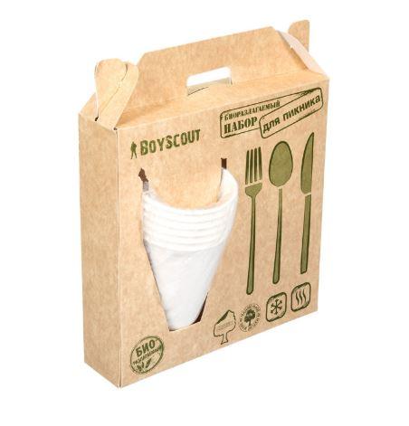 Набор посуды для пикника БИОразлагаемый Boyscout 61151