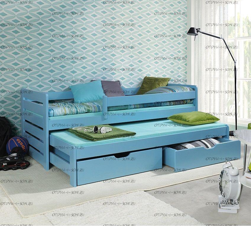 Кровать двухъярусная выкатная Меган №6W, любые размеры