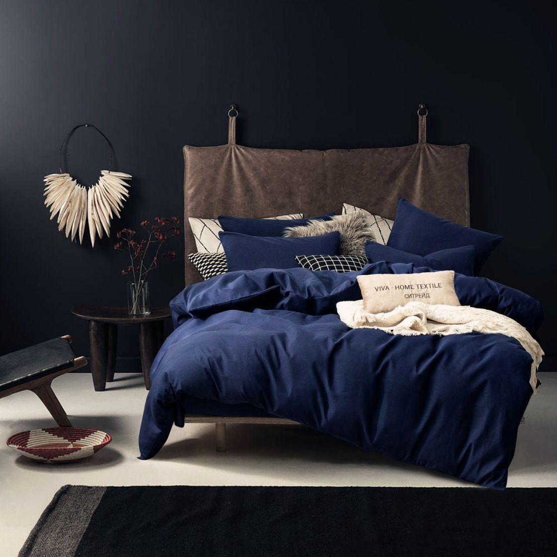 Комплект 2 спальный постельного белья однотонный Сатин CS021