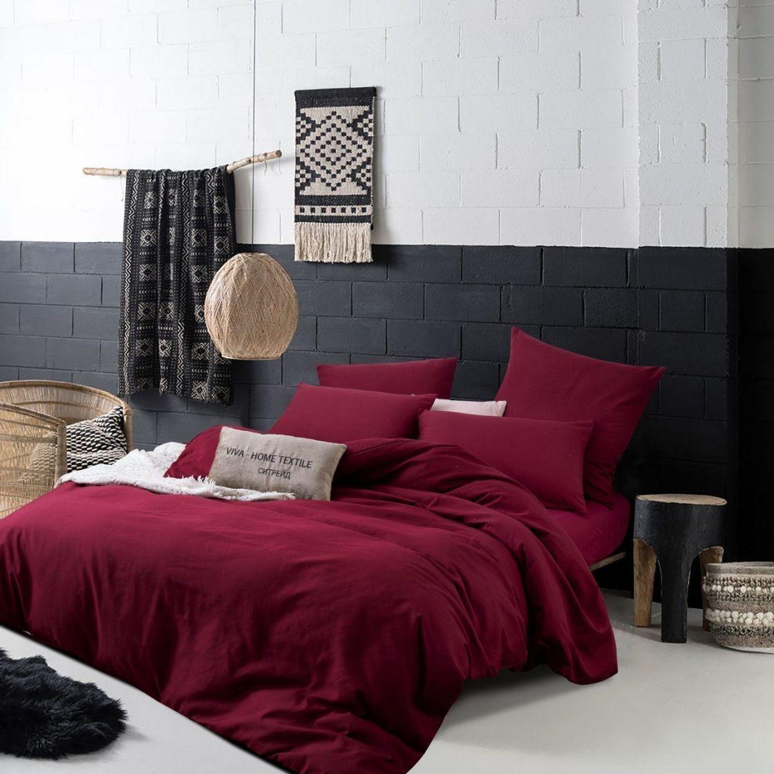 Комплект Дуэт Семейный постельного белья однотонный Сатин CS022