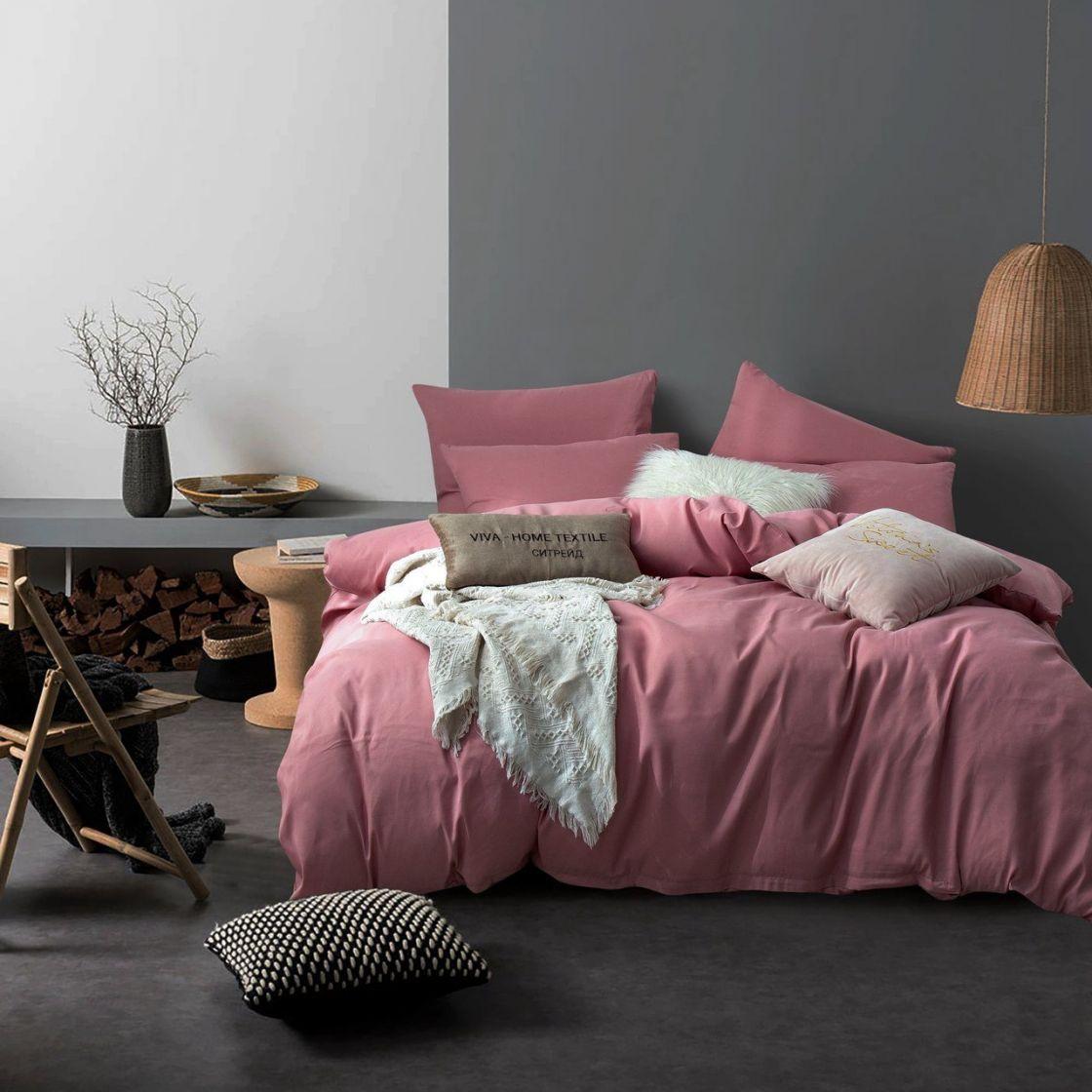 Комплект 2 спальный постельного белья однотонный Сатин CS026