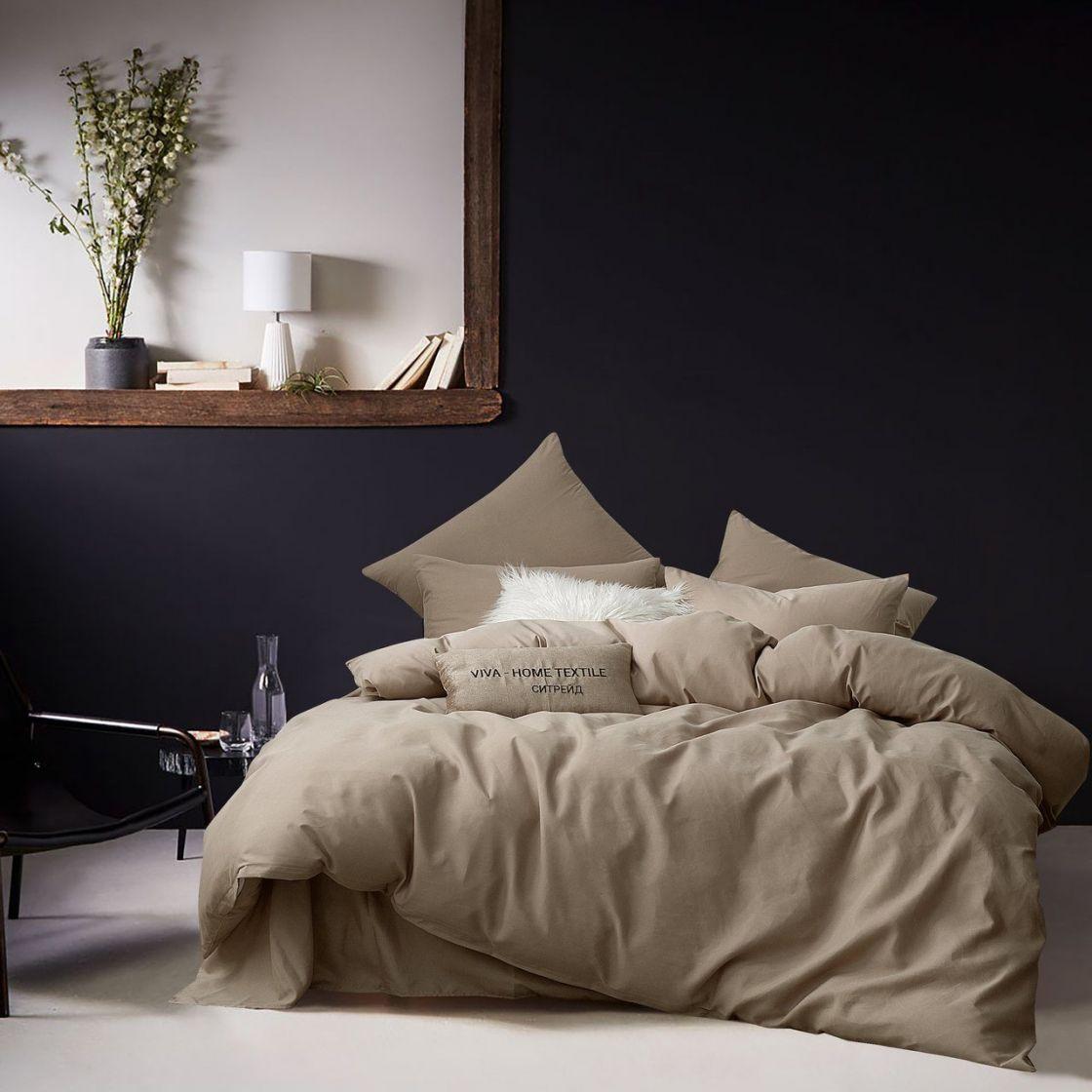 Комплект 2 спальный постельного белья однотонный Сатин CS028