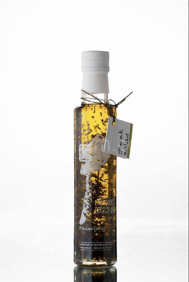 """Настоящее оливковое масло с травами Extra Virgin """"Nikolaou Family"""" Salad 250 мл"""