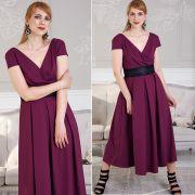 бордовое платье макси