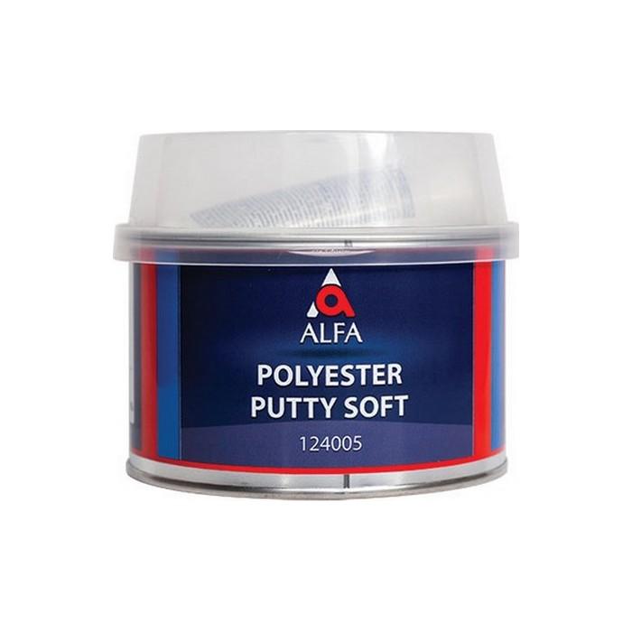 Alfa SOFT Полиэфирная шпатлевка + отв., объем 600гр.