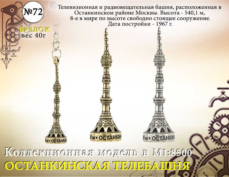 """Форма №72 """"Останкинская телебашня бр."""""""
