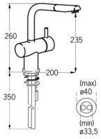 Смеситель Jado Geometry для кухни F1279AA