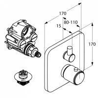 Kludi E2 смеситель для ванны и душа 498300575