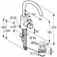Kludi Zenta смеситель для раковины 382550575