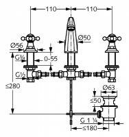 Kludi Adlon смеситель для раковины 5104305G5 схема 2