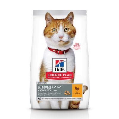 Корм для стерилизованных кошек Hill's Science Plan для профилактики МКБ с курицей 1.5 кг