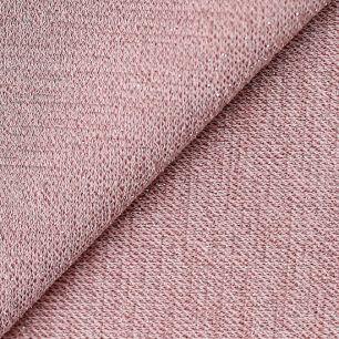 Лоскут трикотажной ткани  Пыльно-розовый с люрексом