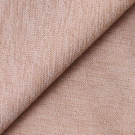 Лоскут трикотажной ткани  Пыльно-персиковый с люрексом