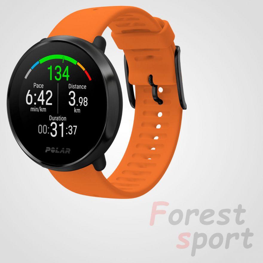 Мультиспортивные часы пульсометр Polar Ignite Orange-Black
