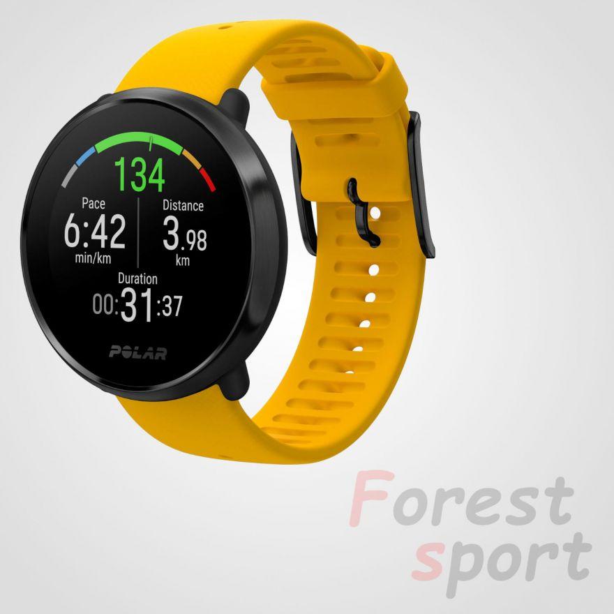 Мультиспортивные часы пульсометр Polar Ignite Yellow-Black M-L
