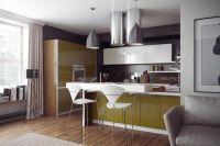 Кухня Дельта бело-оливковая