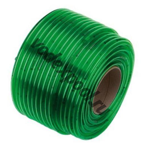Шланг прозрачный зеленый 6х1,5 мм x 1 м (в бухте 100 м)